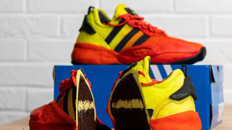 """Adidas and Deliveroo launch limited-edition """"edible life-size cake version"""" of its new Boost trainers"""